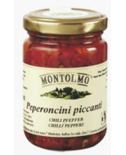 Scharfe Paprikaschoten in Olivenöl